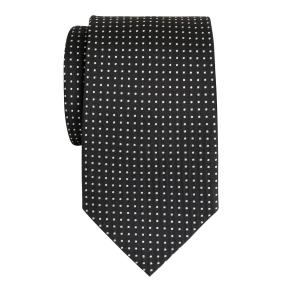 White on Black Pindot Tie