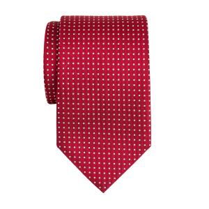 White on Red Pindot Tie