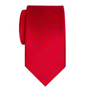 Royal on Red Small Spot Tie