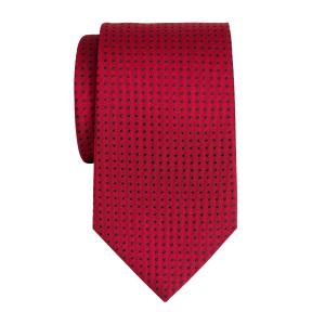 Navy on Red Pindot Tie