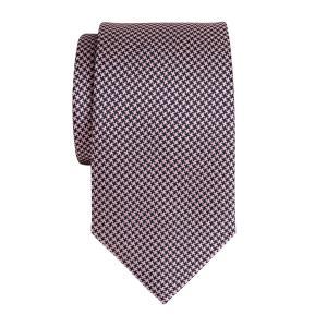 Navy & Pink Houndstooth Tie