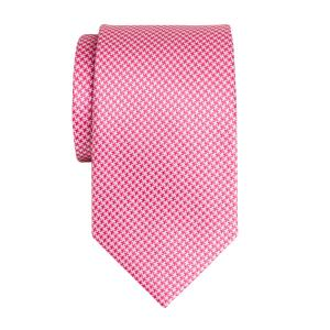 Pink & White Houndstooth Tie