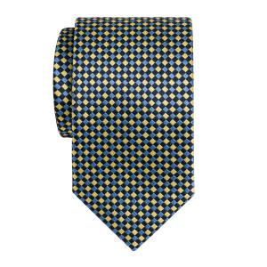 Navy Sky Gold Dice Check Tie