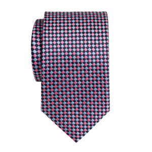 Navy Sky Pink Dice Check Tie