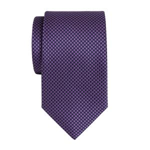 Navy & Purple Houndstooth Tie
