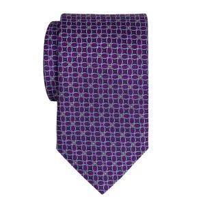 Sky & Purple Ovals Motif Tie