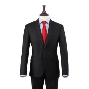 Charcoal Plain Weave 110's Merino Men's Suit in Two Fits