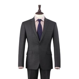 Grey Plain Weave 110's Merino Men's Suit in Two Fits