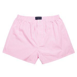 Pink Bengal Stripe Poplin Boxer Shorts