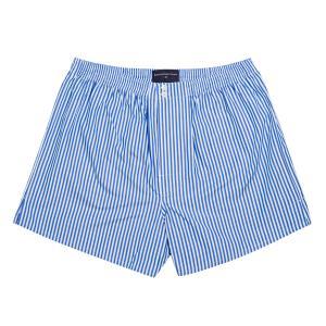 Blue Bengal Stripe Poplin Boxer Shorts