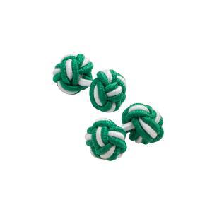 Green & White Silk Knots